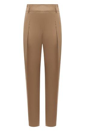 Женские хлопковые брюки BOSS бежевого цвета, арт. 50448216 | Фото 1