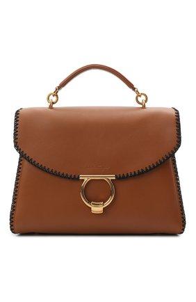 Женская сумка margot SALVATORE FERRAGAMO коричневого цвета, арт. Z-0741258 | Фото 1