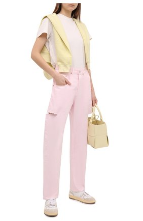Женские джинсы FORTE DEI MARMI COUTURE розового цвета, арт. 21SF9053-4 | Фото 2