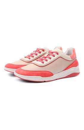Женские кожаные кроссовки LORO PIANA розового цвета, арт. FAL2810 | Фото 1