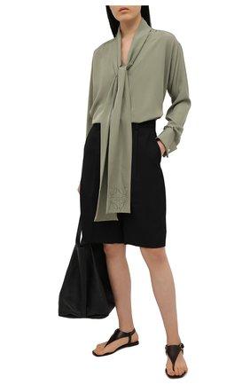Женские кожаные сандалии delancie RALPH LAUREN темно-коричневого цвета, арт. 800841322 | Фото 2 (Каблук высота: Низкий; Подошва: Плоская)