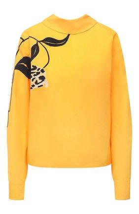 Женская хлопковая блузка MARNI желтого цвета, арт. CAMAT28A00/UTCZ79 | Фото 1