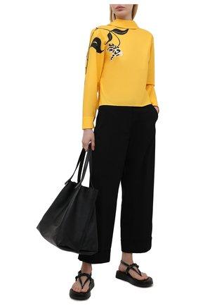 Женская хлопковая блузка MARNI желтого цвета, арт. CAMAT28A00/UTCZ79 | Фото 2