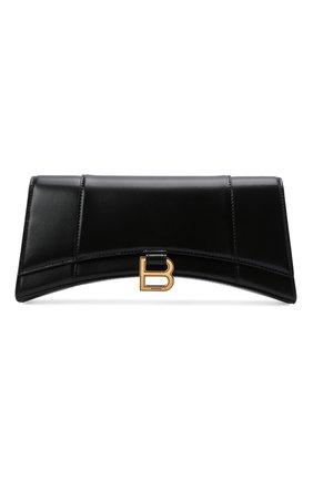Женская сумка hourglass BALENCIAGA черного цвета, арт. 654942/1QJ4M   Фото 1