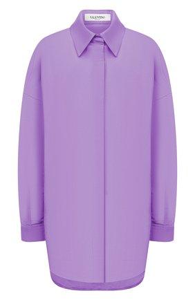 Женская шелковая куртка VALENTINO фиолетового цвета, арт. VB0CI0K56DE | Фото 1