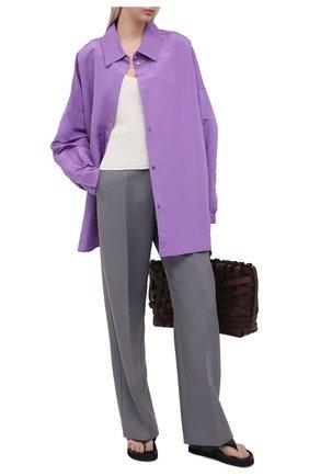 Женская шелковая куртка VALENTINO фиолетового цвета, арт. VB0CI0K56DE | Фото 2