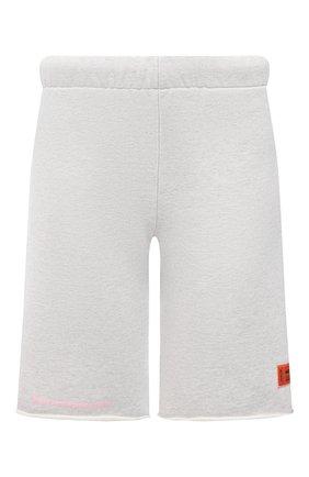 Женские хлопковые шорты HERON PRESTON серого цвета, арт. HWCI002R21JER0010830 | Фото 1