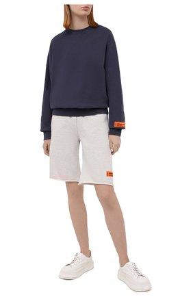 Женские хлопковые шорты HERON PRESTON серого цвета, арт. HWCI002R21JER0010830 | Фото 2