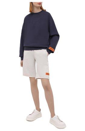 Женский хлопковый пуловер HERON PRESTON серого цвета, арт. HWBA007R21JER0030701 | Фото 2