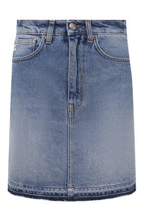 Женская джинсовая юбка TWO WOMEN IN THE WORLD синего цвета, арт. F0SCA/A1HF030   Фото 1