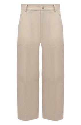 Женские хлопковые брюки MONCLER бежевого цвета, арт. G1-093-2A749-00-54AUL | Фото 1