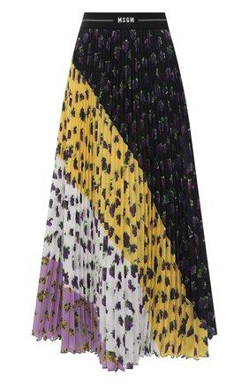 Женская плиссированная юбка MSGM разноцветного цвета, арт. 3042MDD112P 217485 | Фото 1