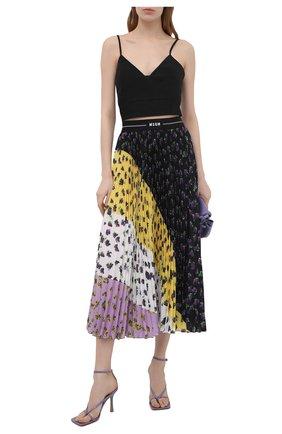 Женская плиссированная юбка MSGM разноцветного цвета, арт. 3042MDD112P 217485 | Фото 2