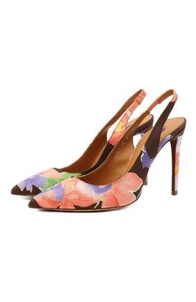 Женские текстильные туфли cecyle RALPH LAUREN разноцветного цвета, арт. 800843395 | Фото 1 (Материал внутренний: Натуральная кожа; Материал внешний: Текстиль; Подошва: Плоская; Каблук высота: Высокий; Каблук тип: Шпилька)
