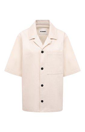 Женская хлопковая рубашка JIL SANDER бежевого цвета, арт. JPPS600305-WS241900 | Фото 1