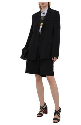Женские кожаные босоножки zefira 85 CHRISTIAN LOUBOUTIN черного цвета, арт. 1210641/ZEFIRA 85   Фото 2