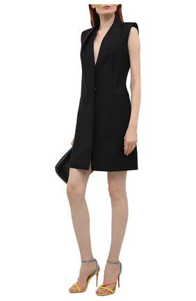 Женские кожаные босоножки mafaldina spikes 100 CHRISTIAN LOUBOUTIN разноцветного цвета, арт. 1211096/MAFALDINA SPIKES 100 | Фото 2