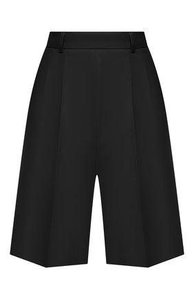 Женские шерстяные шорты MAISON MARGIELA черного цвета, арт. S51MU0056/S53700 | Фото 1