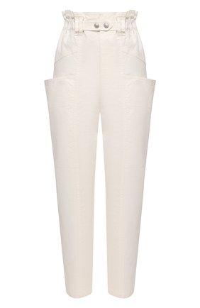 Женские брюки из льна и хлопка ISABEL MARANT кремвого цвета, арт. PA1917-21E012I/ENUCIE | Фото 1