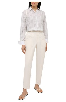 Женские брюки из льна и хлопка ISABEL MARANT кремвого цвета, арт. PA1917-21E012I/ENUCIE | Фото 2