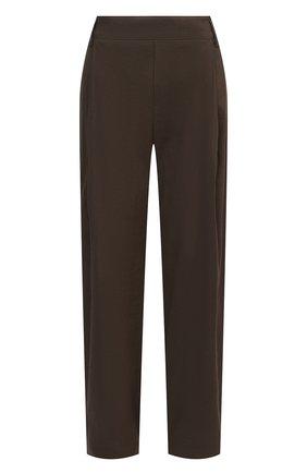 Женские брюки из льна и вискозы VINCE коричневого цвета, арт. V726121912   Фото 1