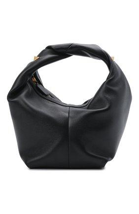 Женская сумка roman stud VALENTINO черного цвета, арт. VW0B0J15/BSF | Фото 1 (Материал: Натуральная кожа; Ошибки технического описания: Нет ширины; Размер: mini; Сумки-технические: Сумки top-handle)