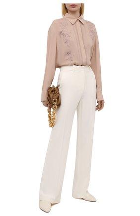 Женская шелковая блузка VALENTINO бежевого цвета, арт. VB0AB2F21MH | Фото 2