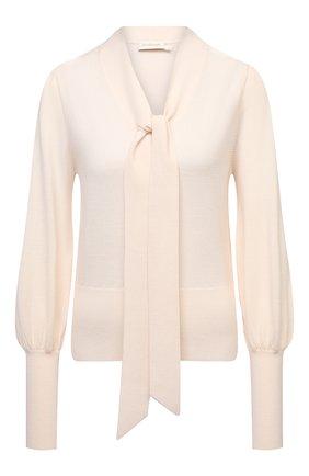Женский шерстяной пуловер ZIMMERMANN кремвого цвета, арт. 9981TRB0T | Фото 1