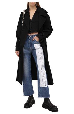 Женские джинсы MM6 синего цвета, арт. S62LB0052/S30589 | Фото 2