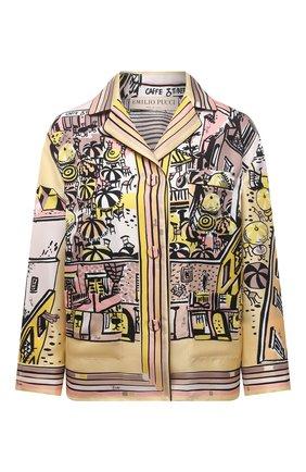 Женская шелковая рубашка EMILIO PUCCI желтого цвета, арт. 1HRJ50/1H721 | Фото 1