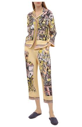 Женская шелковая рубашка EMILIO PUCCI желтого цвета, арт. 1HRJ50/1H721 | Фото 2