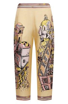 Женские шелковые брюки EMILIO PUCCI желтого цвета, арт. 1HRT20/1H721 | Фото 1