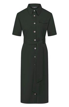 Женское хлопковое платье PIETRO BRUNELLI темно-зеленого цвета, арт. AG0421/LG/C0P319 | Фото 1