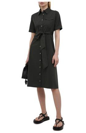 Женское хлопковое платье PIETRO BRUNELLI темно-зеленого цвета, арт. AG0421/LG/C0P319 | Фото 2