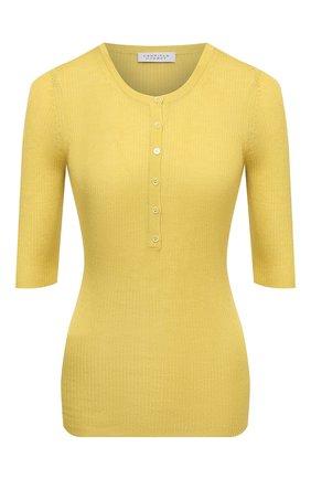 Женский пуловер из кашемира и шелка GABRIELA HEARST желтого цвета, арт. 221932 A003 | Фото 1