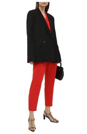 Женский хлопковый комбинезон LORENA ANTONIAZZI красного цвета, арт. E2104TU009/2473 | Фото 2