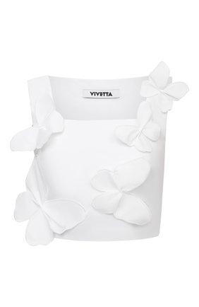 Женский хлопковый топ VIVETTA белого цвета, арт. 21E V2S0/T011/6958 | Фото 1