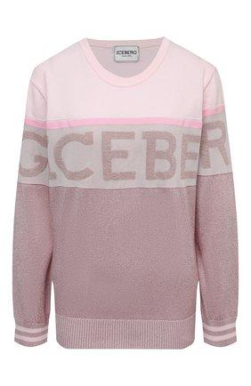 Женский пуловер ICEBERG светло-розового цвета, арт. 21E I2P0/A007/7296 | Фото 1