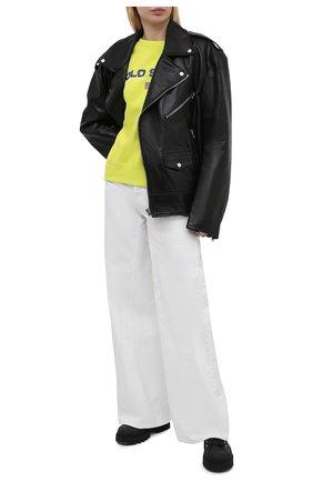 Женский хлопковый свитшот POLO RALPH LAUREN желтого цвета, арт. 211838080   Фото 2