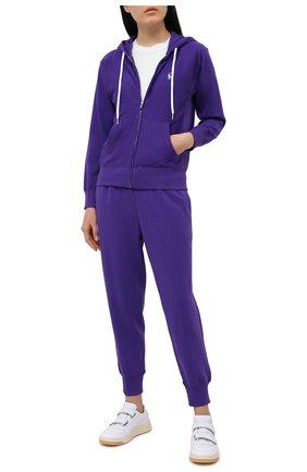 Женский хлопковая толстовка POLO RALPH LAUREN фиолетового цвета, арт. 211780303 | Фото 2