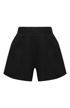 Женские хлопковые шорты DRIES VAN NOTEN черного цвета, арт. 211-11120-2603 | Фото 1