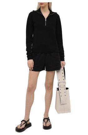 Женские хлопковые шорты DRIES VAN NOTEN черного цвета, арт. 211-11120-2603 | Фото 2