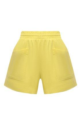 Женские хлопковые шорты DRIES VAN NOTEN желтого цвета, арт. 211-11120-2603 | Фото 1