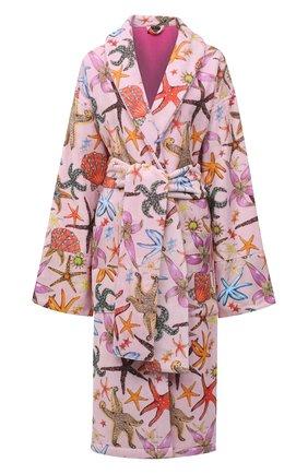 Женский хлопковый халат VERSACE розового цвета, арт. ZACJ00060/ZC0SP130 | Фото 1