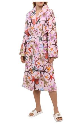 Женский хлопковый халат VERSACE розового цвета, арт. ZACJ00060/ZC0SP130 | Фото 2