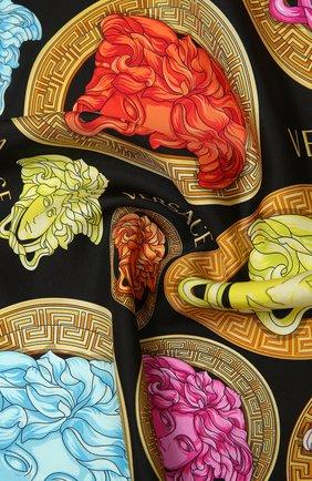 Женский шелковый платок VERSACE разноцветного цвета, арт. IF09001/1F01333 | Фото 2