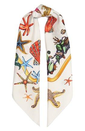 Женский шелковый платок VERSACE разноцветного цвета, арт. IF09001/1F01310 | Фото 1