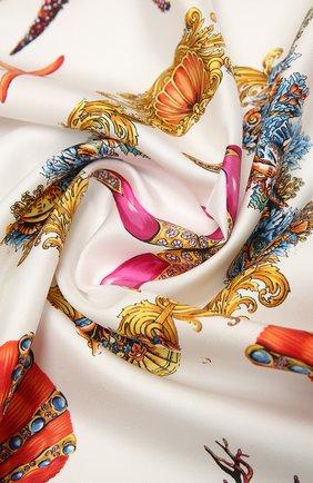Женский шелковый платок VERSACE разноцветного цвета, арт. IF09001/1F01310 | Фото 2