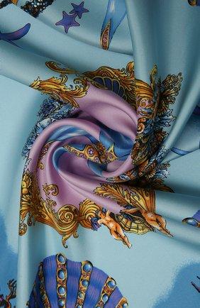 Женский шелковый платок VERSACE голубого цвета, арт. IF09001/1F01310 | Фото 2