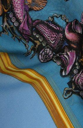 Женская шаль VERSACE голубого цвета, арт. IF01401/1F01320   Фото 2